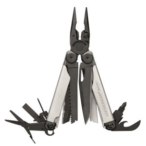 Leatherman LT655-BS Wave+ Silver & Black with Nylon Sheath – Full-Size Multi-Tools