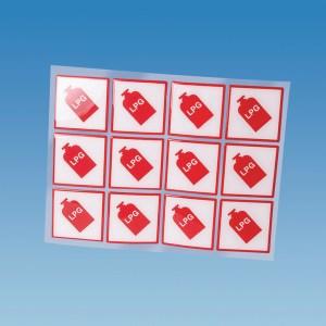 PLS 10020 – Self Adhesive Tufflex LPG Label