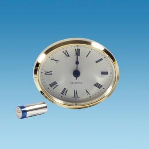 PLS ME508 – Caravan Clock, 72mm Oval, Brass