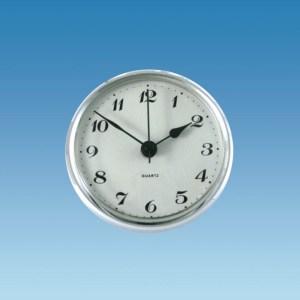 PLS ME521 – Caravan Clock, 72mm Round, Silver