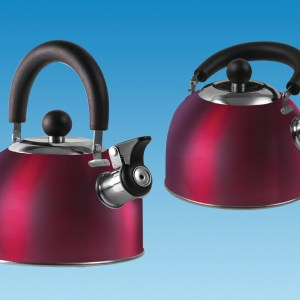 PLS SU340 – Red 1.6 Litre Gas Hob Kettle with Folding Handle