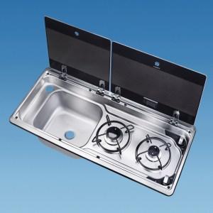 PLS SV4001 – MO9722 Smev Combi Lefthand Sink 2 Lids