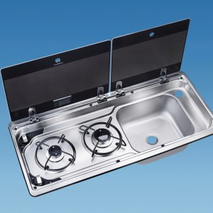 PLS SV4002 – MO9722 Smev Combi Righthand Sink 2 Lids