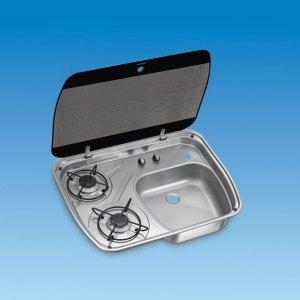 PLS SV9001 – HSG2445 – 2 Burner Gas Hob/Sink Combination