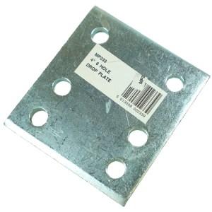 Maypole Drop Plate Zinc Plated 4″ 6 Hole – MP233