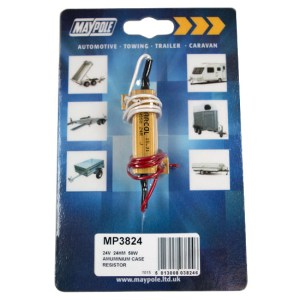 Maypole 24V Load Resistor 24 Ohm Max Power 50W In Aluminium Case Bk – MP3824B