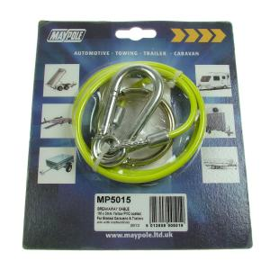 Maypole Breakaway Cable PVC Yellow 1M x 3mm Dp – MP5015