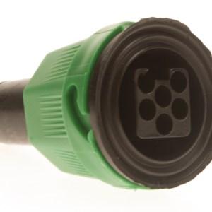 Maypole Harness –  Ajba 6 Pin Green Plug Kit (Bag Of 10 = 1) Dp – MP748PG