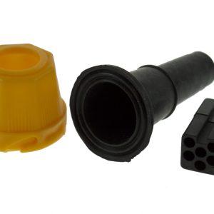 Maypole Harness –  Ajba 6 Pin Yellow Plug Kit (Bag Of 10 = 1) Dp – MP748PY