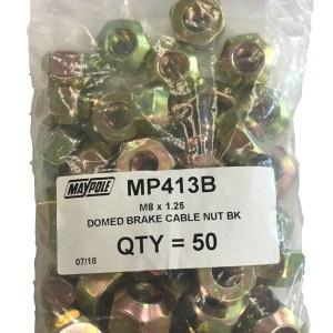 Maypole M8 X 1.25 Domed BRake Cable Nut Bk – MP413B