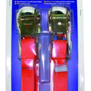 Maypole Ratchet Strap & Hooks 25mm x 4.5M 600kg Gs Pk2 – MP6070