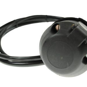 Maypole 12N Socket With 5M Cable Bk – MP808B5M
