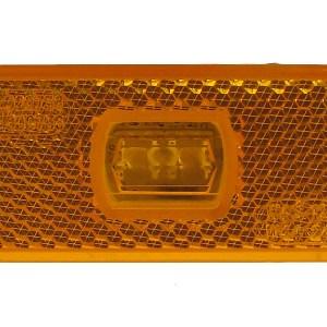Maypole Lamp – 12-24V LED Amber Side Marker & Reflector Bk – MP8775B
