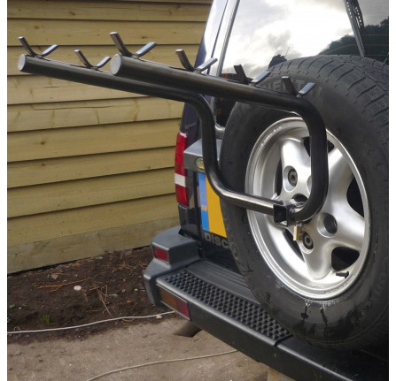 discovery 1 bike rack holds 4 bikes mount to the spare wheel carrier and easy to fit da4118