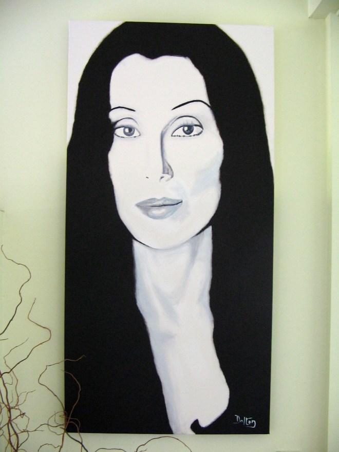 Cher painting by John Dalton