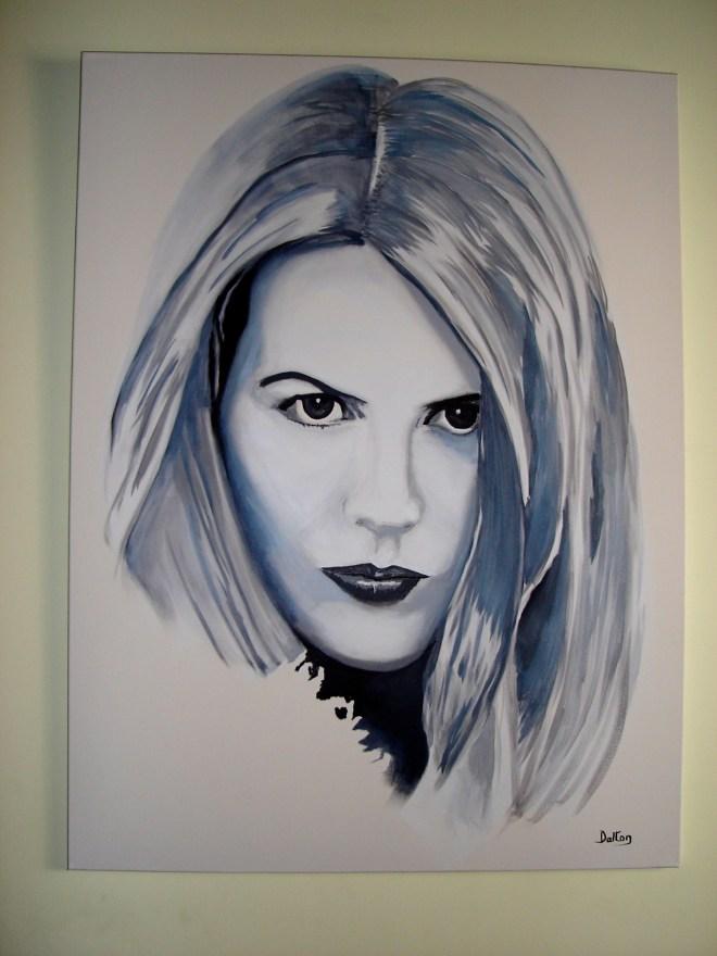 Nicole Kidman painting by John Dalton
