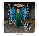 Mary with chickens and Caesar poster