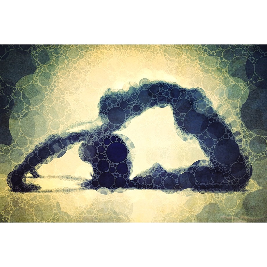 Yoga art 16 by John Dalton
