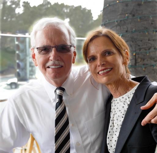 Dr Elaine Melotti Schmidt and her husband Steven Bennett