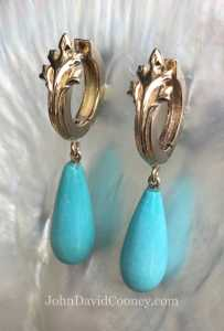 14K E-25 with turquoise