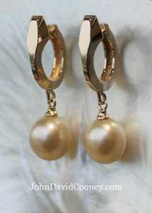 Earrings, E-26-3-Pearls