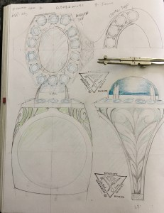 Turquois Diamond ring