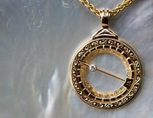 gold sundial