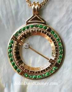 Sundial closed, now a pendant