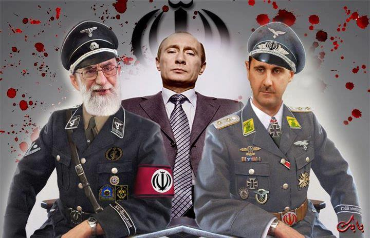 Khamenei-Putin-Assad-SS-Uniformen