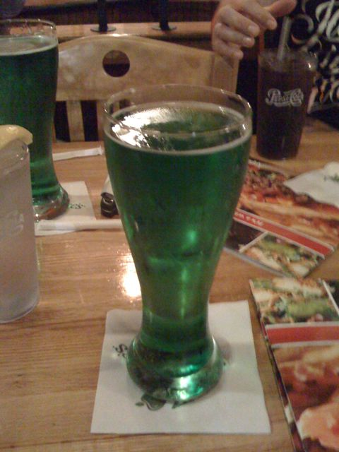 St. Patrick's day Green Beer!