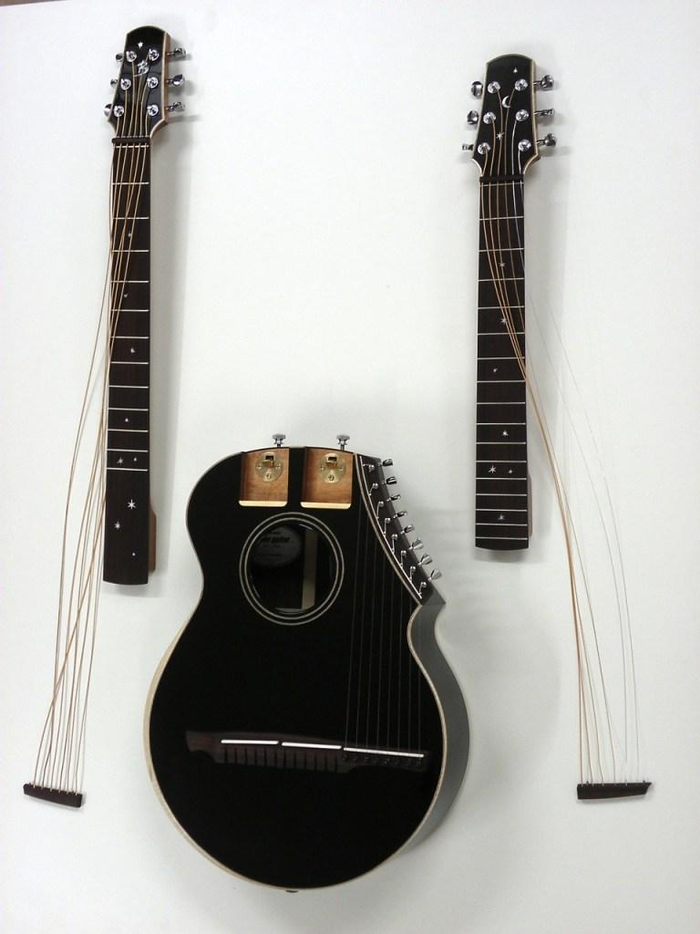 Brunner harp guitar disassembled