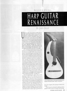 Article by John Doan in Frets Magazine September 1988 on Harp Guitar Renaissance