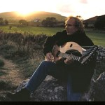 John Doan with the harp guitar at Carrowmore