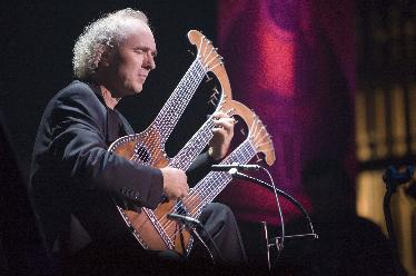 Primal Twang concert with John Doan on the Harpolyre by Erin Fitzgerald Taylor Guitars