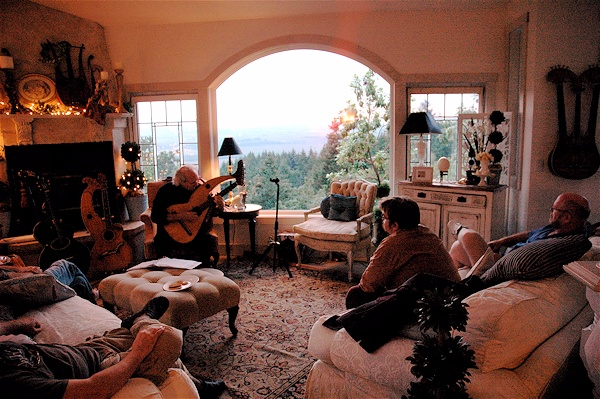 living room concerts harp guitar retreat lesson in living room with 10463