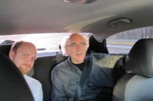 John Down in Moscow in a vehicle.
