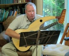 6. John Doan Harp Guitar Retreat Jay in Class