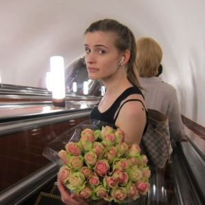 6.Russian Girl with Flowers
