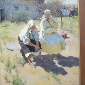 9.John Doan Harp Guitar Russian Painting Spring
