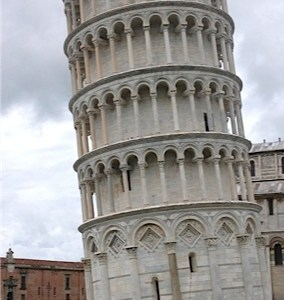 17.John Doan pushing Tower of Pisa
