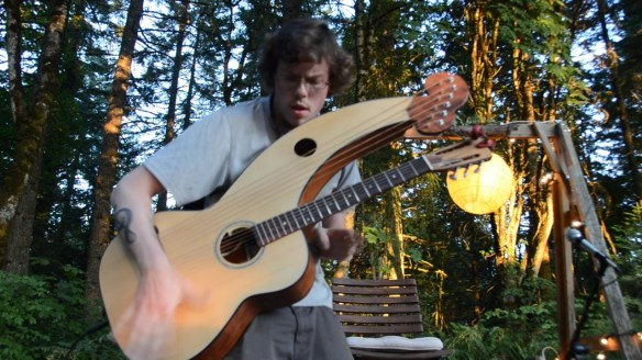 Adrian Bellue Harp Guitar Performance