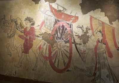 8. Mural 600 AD Oxen cart