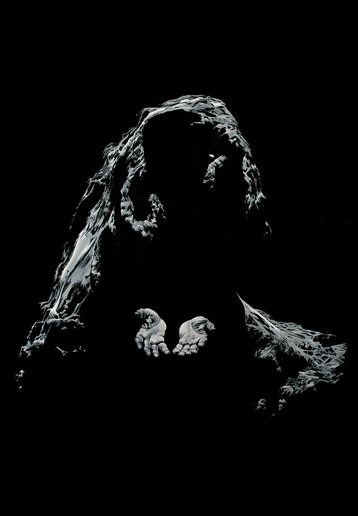 Virgin of Philae, a painting of comet 67P / Churyumov–Gerasimenko by artist John Elcock
