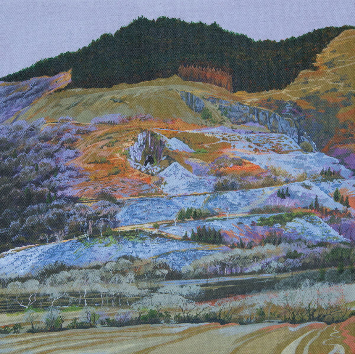 Painting of mountain in the Dyfi Valley Wales