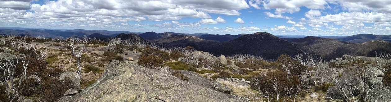 View south from Mt Namadgi