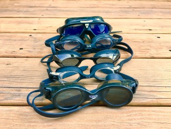 Swim goggles I have tested.
