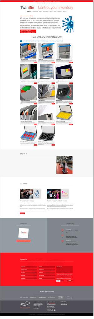 TwinBin website
