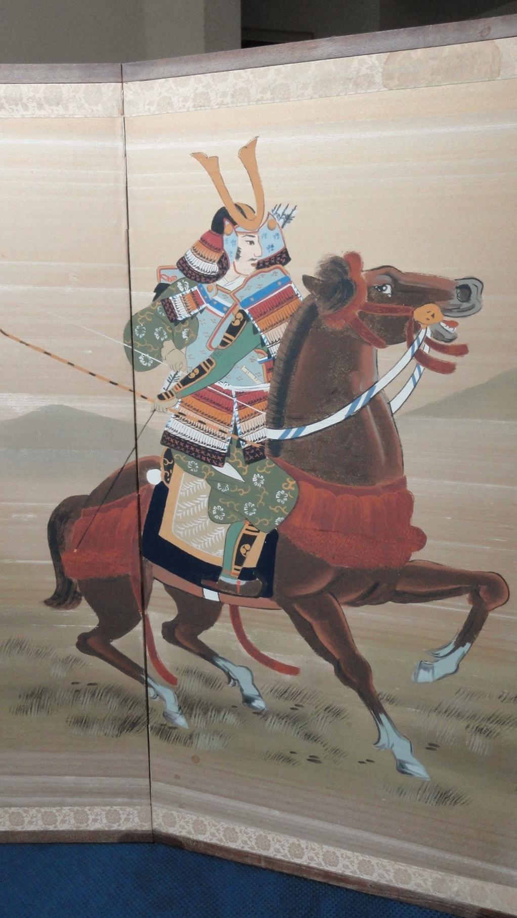 Samurai Warriors on Horseback left Samurai