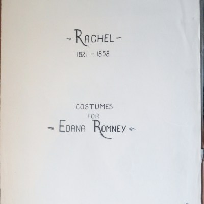 Rachel Costumes for Edana Romney Portfolio title page