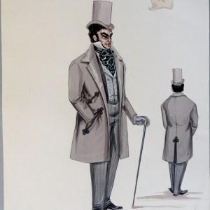 Dr Veron light grey suit green tie